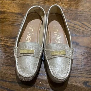 Calvin Klein Gold Loafers